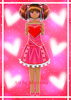 Valentine Day Girl African American Web Version II
