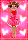 Valentine Day Girl African American Web Version